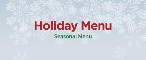 holiday menu seasonal menu