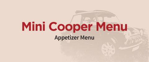 mini cooper appetizer menu
