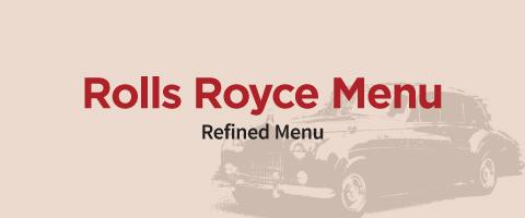 rolls royce refined menu